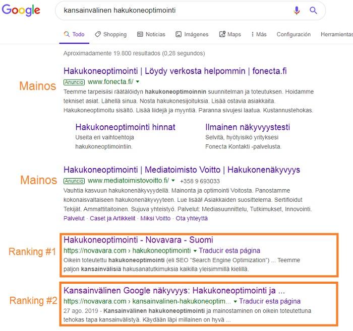 kansainvälinen google markkinointi